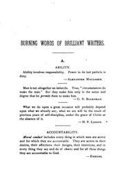 Cover of: Dictionary of burning words of brilliant writers | Josiah Hotchkiss Gilbert