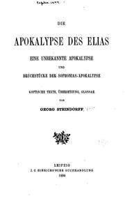 Cover of: Die Apokalypse des Elias |
