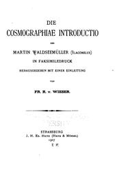 Cover of: Die Cosmographiae introductio des Martin Waldseemüller