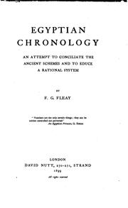 Cover of: Egyptian chronology | Frederick Gard Fleay