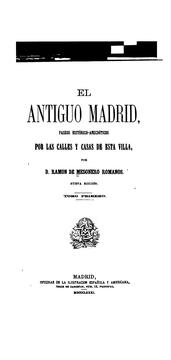 Cover of: El antiguo Madrid
