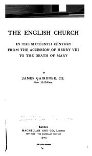Cover of: The English church in the sixteenth century