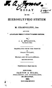 Cover of: Essay on the hieroglyphic system of M. Champollion, jun. | J. G. HonorГ© Greppo