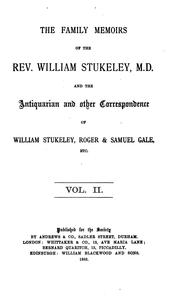 Cover of: The family memoirs of the Rev. William Stukeley, M.D