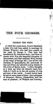 Cover of: The four Georges | William Makepeace Thackeray