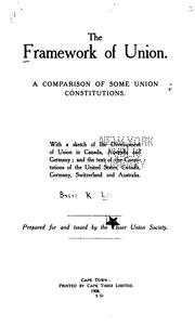 Cover of: The framework of union