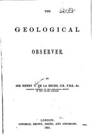 Cover of: The geological observer