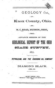 Cover of: Geology of Knox County, Ohio | Matthew Canfield Read