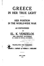 Cover of: Greece in her true light
