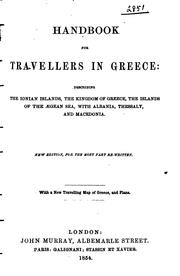 Cover of: Handbook for travellers in Greece by Murray, John, publisher, London