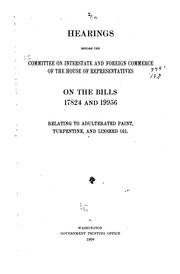 Cover of: Hearings before the Committee on Interstate and Foreign Commerce of the House of Representatives, on the bills relating to safety appliances and accidents. [March 19, 1908]
