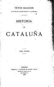 Cover of: Historia de Cataluña ..