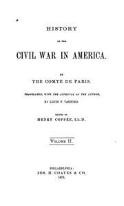 Cover of: History of the civil war in America