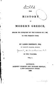 Cover of: The history of modern Greece