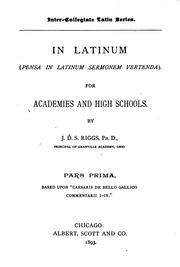 Cover of: In latinum
