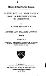 Cover of: Warren Colburn's First lessons