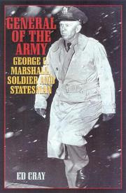 Cover of: General of the Army