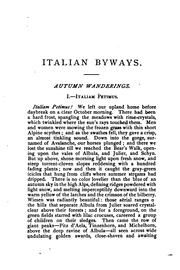 Cover of: Italian byways