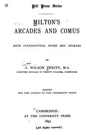 Cover of: Milton's Arcades and Comus: with introd., notes and indexes