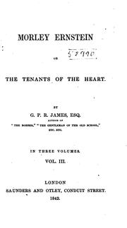 Cover of: Morley Ernstein, or, The tenants of the heart