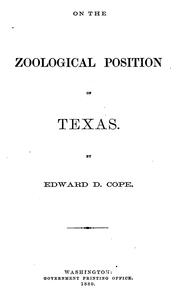 Cover of: On the zoological position of Texas