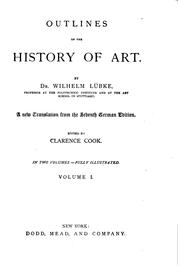 Cover of: Outlines of the history of art