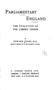 Cover of: Parliamentary England | Edward Jenks