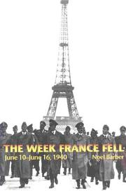 Cover of: The week France fell, June 10-16, 1940