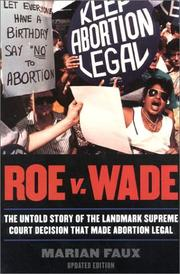 Cover of: Roe v. Wade | Marian Faux