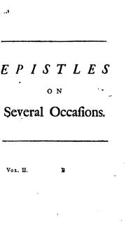 Cover of: Poems on several occasions