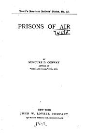 Cover of: Prisons of air ..