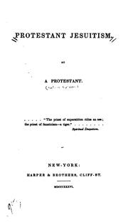 Cover of: Protestant Jesuitism