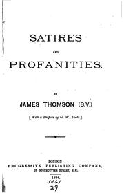 Cover of: Satires and profanities