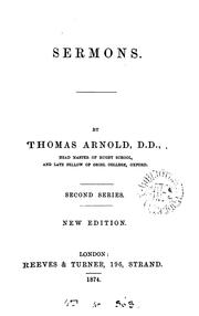 Cover of: Sermons | Arnold, Thomas