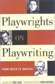 Cover of: Playwrights on playwriting