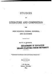 Cover of: Studies in literature and composition for high schools, normal schools, and academies | W. H. Skinner