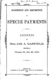 Cover of: Suspension and resumption of specie payments