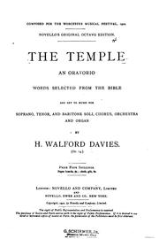 Cover of: The temple | Sir Walford Davies