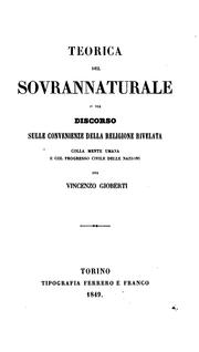 Cover of: Teorica del sovrannaturale
