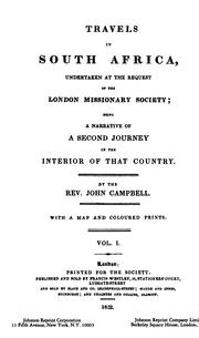 Cover of: Travels in South Africa, undertaken at the request of the London missionary society