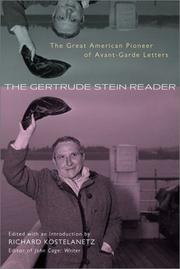 Cover of: The Gertrude Stein Reader | Richard Kostelanetz