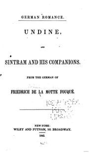 Cover of: Undine, and Sintram and his companions