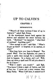 "Cover of: ""Up to Calvin's,"" 