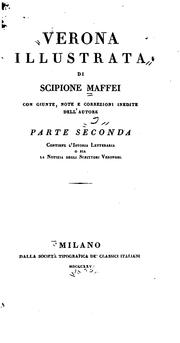 Cover of: Verona illustrata