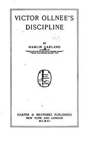 Cover of: Victor Ollnee's discipline