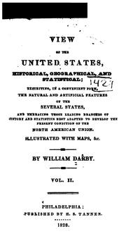 Cover of: View of the United States, historical, geographical, and statistical | Darby, William
