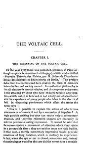 Cover of: The voltaic cell