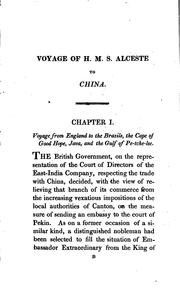 Cover of: Voyage of His Majesty's ship Alceste, along the coast of Corea | McLeod, John