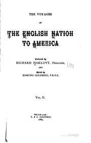 Cover of: Voyages of the English nation to America