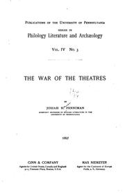 Cover of: The war of the theatres